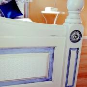 Superiorapartment Palamida Schlafzimmer Bettdetail in Mediteranen Style fur den perfekten Sommerurlaub