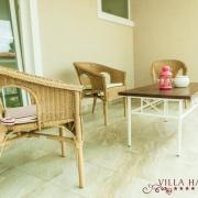 Agava: Standard Apartment mit Schlafzimmer, Terrasse und Meerblick (1.OG.)